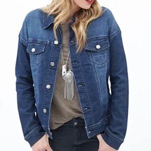 Forever 21 Contemporary Stretchy Denim Jacket